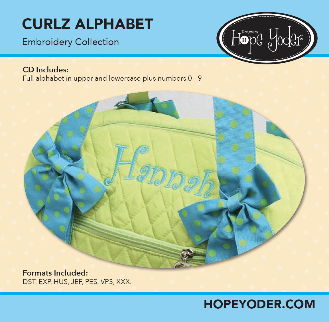 Curlz Monogram Embroidery CD with SVG Files
