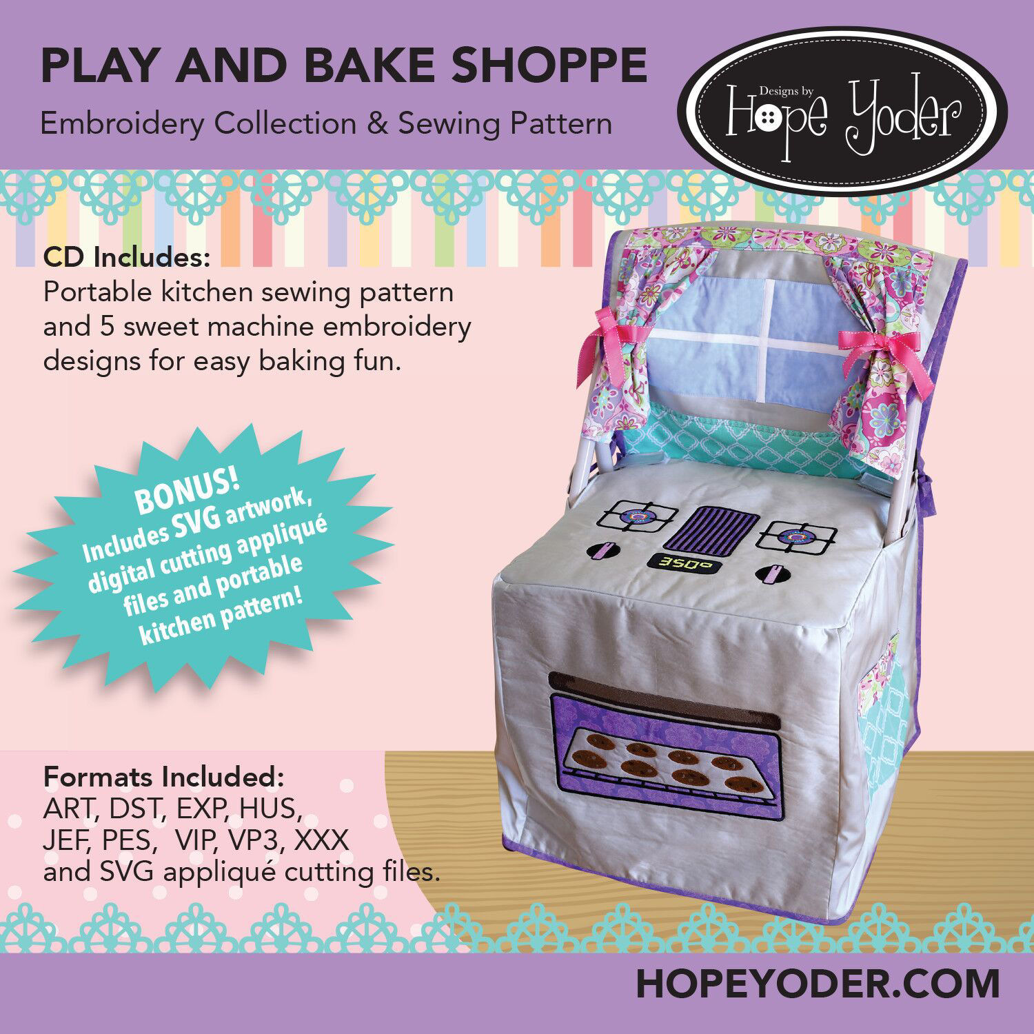 Play N Bake Embroidery CD with SVG Files