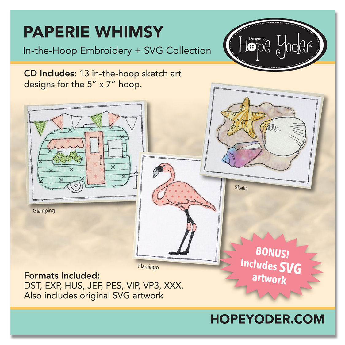 Paperie Whimsy Embroidery CD with SVG Files