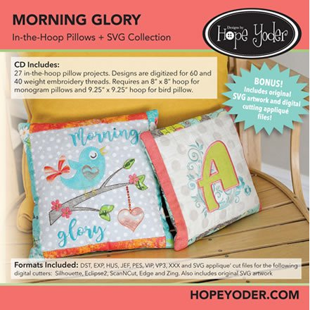 Morning Glory Embroidery CD