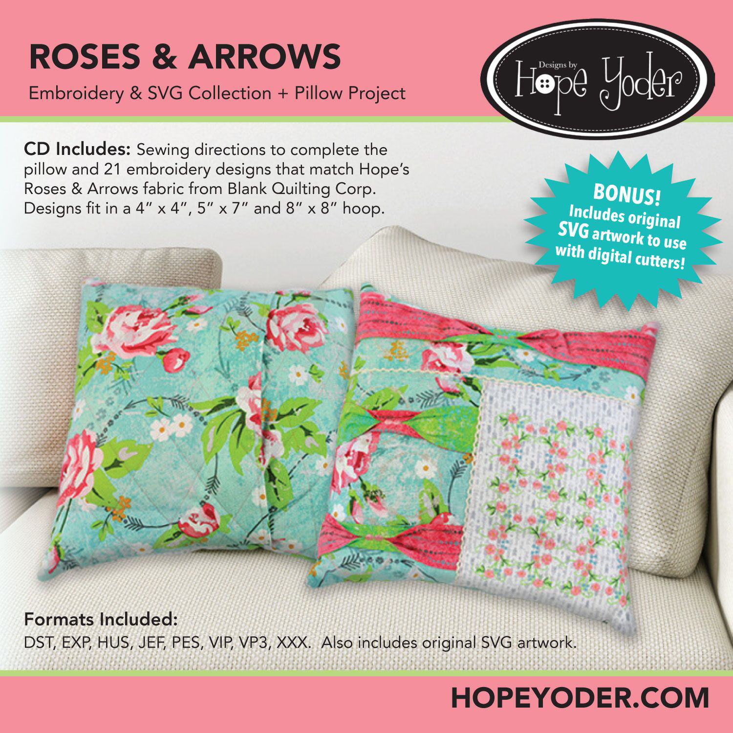 Roses and Arrows Embroidery CD
