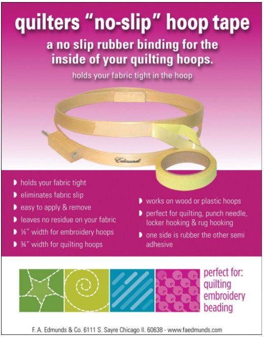 Frank Edmunds Quilters Hoop Tape 3/4in x 3yd