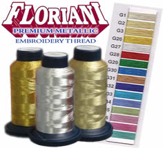 Floriani Premium Metallic Thread (Includes Haskins)