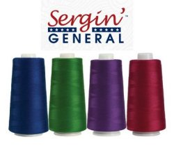 Superior Sergin General Tex 30 Poly-Wrapped Poly Core Serger Thread