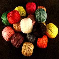 Valdani Size 8 Perle Cotton Solids