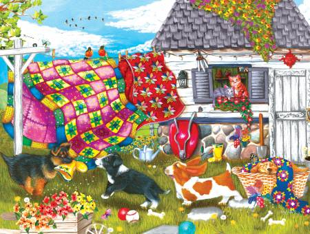 Jigsaw Puzzle Backyard Pups 500pc