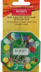 Bohin Sharps 2in Quilters Flower Head Pin