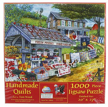 Jigsaw Puzzle Handmade Quilts 1000pc