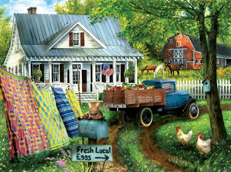 Jigsaw Puzzle Countryside Living 1000pc