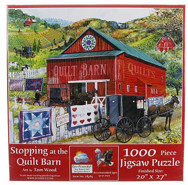 Jigsaw Puzzle Stopping At The Quilt Barn 1000pc
