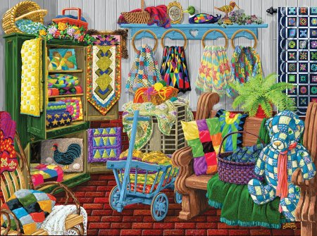 Jigsaw Puzzle The Quilt Fair 1000pc