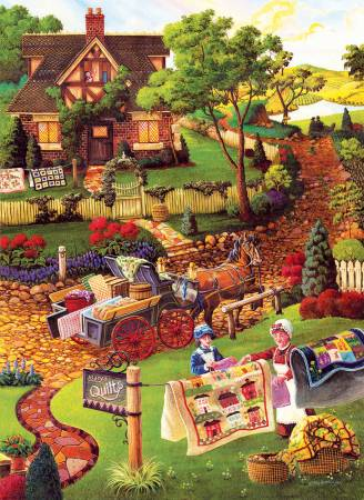 Jigsaw Puzzle Marys Quilt Country 500pc