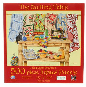 The Quilting Table 500pc Jigsaw Puzzle