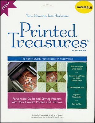 Printed Treasures Sew-On Printer Fabric Sheets