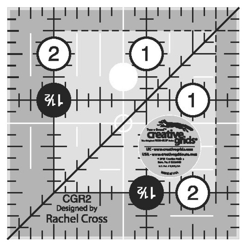 Creative Grids Quilt Ruler 2-1/2in Square