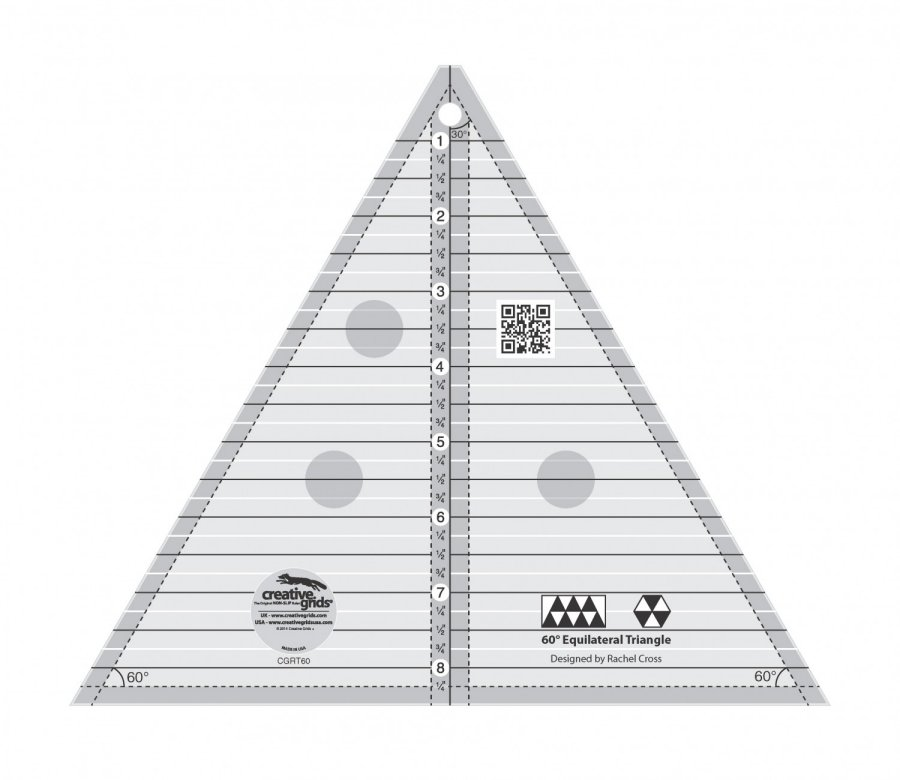 Creative Grids 60 Degree Triangle Quilt Ruler