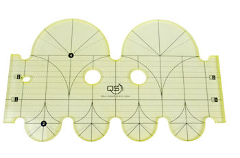 QS Clamshell Precision Quilting Ruler 4in & 2in