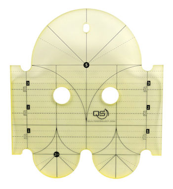 QS Clamshell Precision Quilting Ruler 5in & 2.5in