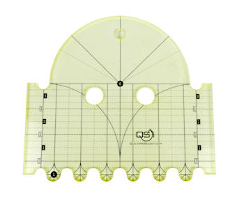 QS Clamshell Precision Quilting Ruler 6in & 1in