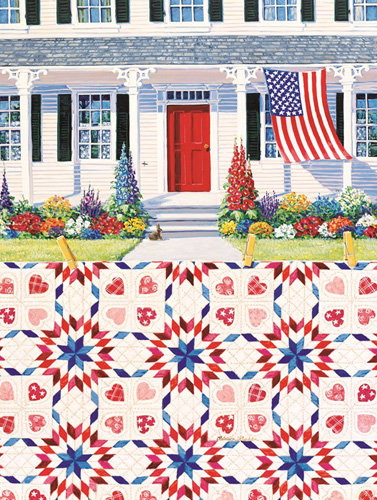 Jigsaw Puzzle Red White Blue 500pc
