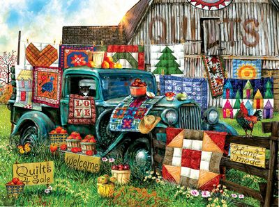 Jigsaw Puzzle Quilts For Sale 1000pc