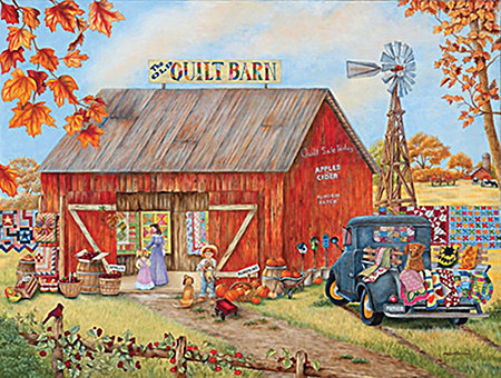 Jigsaw Puzzle The Quilt Barn 500pc