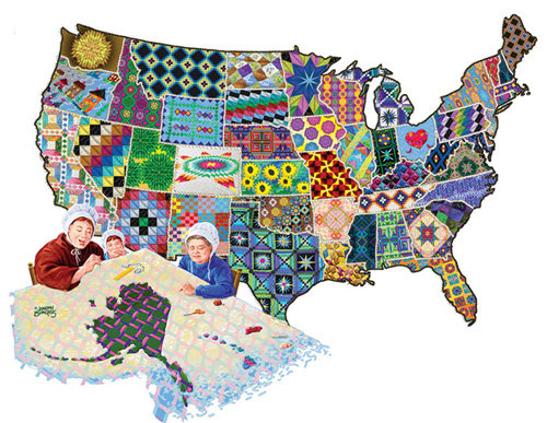 An American Quilt 600pc Jigsaw Puzzle