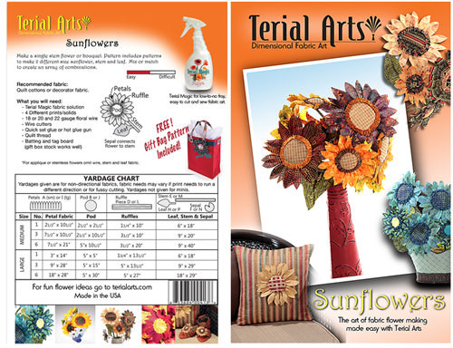 Terial Arts Pattern - Sunflowers
