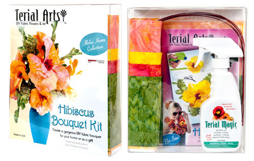 Terial Arts Hibiscus Bouquet Kit With Fabric