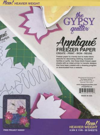 Gypsy Quilter Applique Freezer Paper 8.5 x 11
