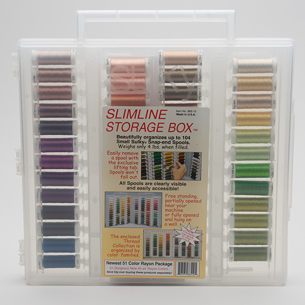 Sulky Slimline Newest 51 Rayon Colors Package #885-10