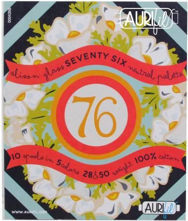 Aurifil Seventy Six Neutral Palette Collection From Alison Glass AG5028SSNP10