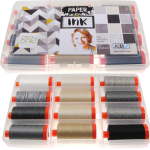 Aurifil Paper Ink Set 12 Large 50wt Sp By Brigitte Heitland BH50PI12