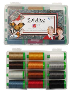 Aurifil Solstice Collection Large Spools Fourth and Sixth Designs BPMH40S012