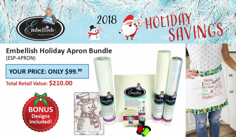 Embellish Holiday Apron Project Bundle
