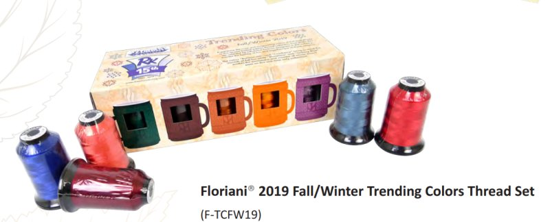 Floriani 2019 Fall/Winter Trending Colors F-TCSS19