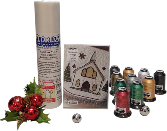 Floriani Christmas Village Thread Set w Designs