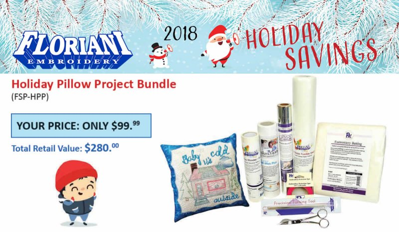 Floriani Holiday Pillow Project FSP-HPP