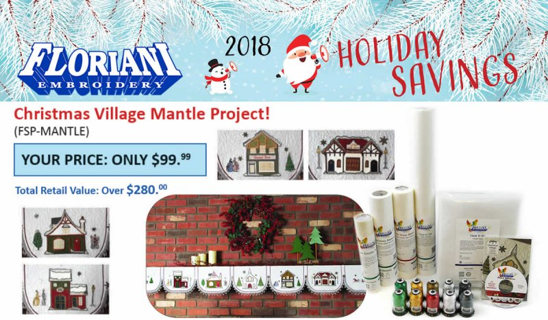 Christmas Village Mantle Project