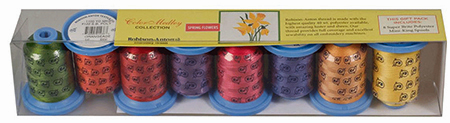 Robison Anton Flower Color Medley Set 8 40wt Poly Thread GGP2015