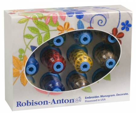 Robison Anton Gift Set 40 weight Polyester Thread 12 Spools GGP2020