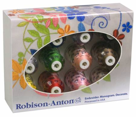 Robison Anton Gift Set 40wt Rayon Thread 12 Sp GGR2022