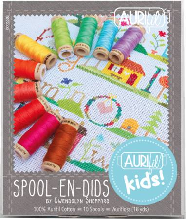 Aurifil Spool En Dids Collection by Gwendolyn Sheppard Cotton Aurifloss 10 Small Spools GS30SED10