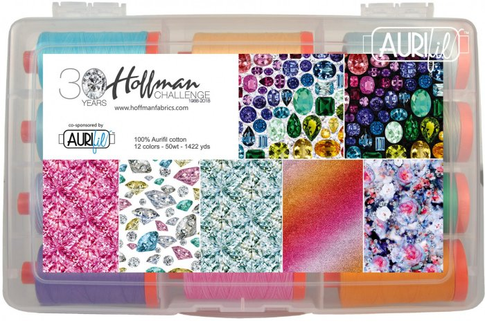 Aurifil 2018 Hoffman Challenge Collection by Hoffman Fabrics HG5018HC12