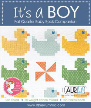 Aurifil It's a Boy Collection From Its Sew Emma 10 Small Spools ITSABOY-ISE