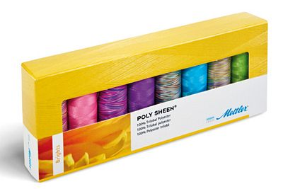 Mettler Threads 8 Sp Polysheen Brights Set PS811