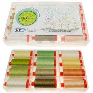 Aurifil Refresh Collection 12 Large 50wt Spools by Sandy Gervais SG50RC12
