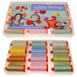 Aurifil Subtle Strings Collection 12 Large 50wt Spools by Wendy Sheppard WS50SS12