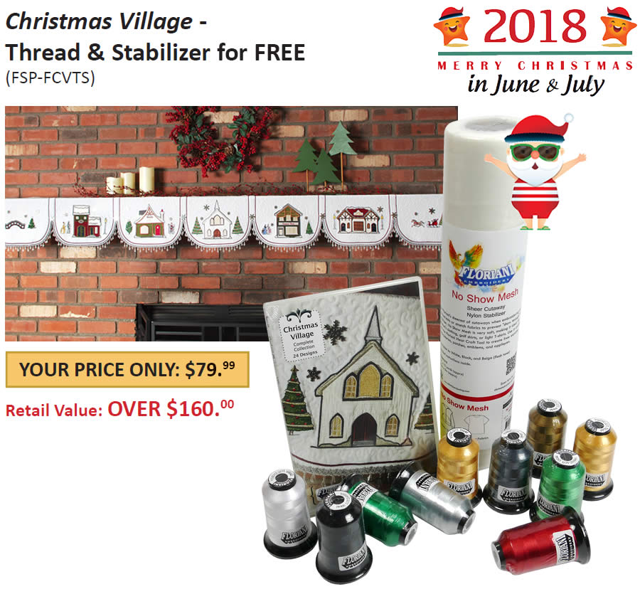 Floriani Christmas Village Thread Set SOLD OUT