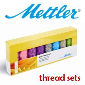 THREAD Mettler ~ METROSENE KIT ~ BLACK /& WHITE ~ 4 Spools 164 yards each